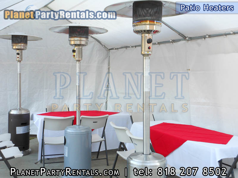Patio heater rentals available for rent outdoor patio heater rentals for your weddings baptisms birthdays rent a heater to keep your guests warm the heaters are easy to setup rent them with tables and chairs the patio heaters fit inside our canopy the heaters will help you keep warm and enjoy your event dont have your guests unhappy because they are cold keep them happy and warm with an outdoor propane patio heater