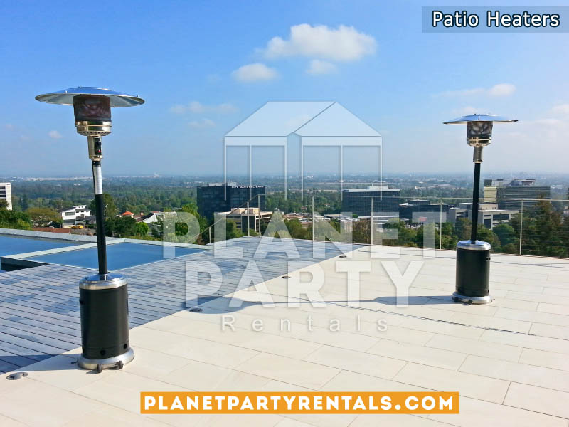 Outdoor Propane Patio Heaters (Black and Stainless Steel)