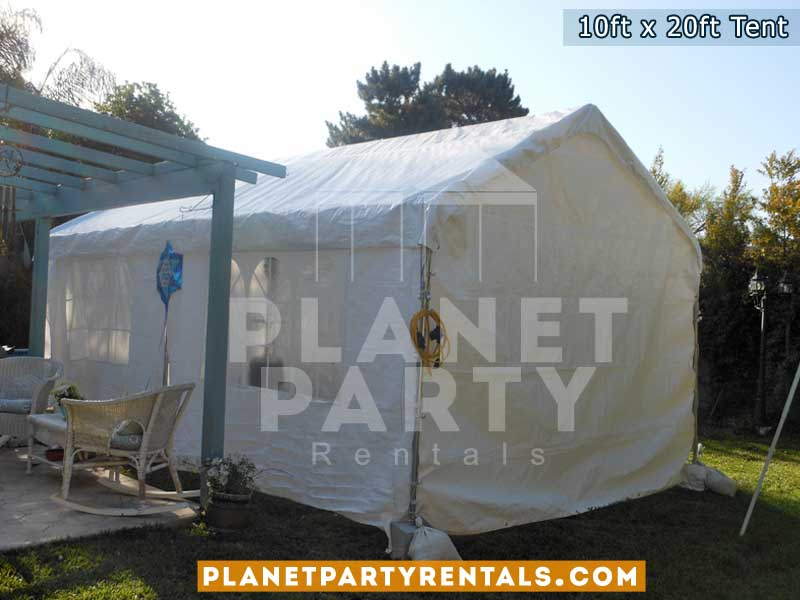 10ft x 20ft white party tent with sidewalls | San Fernando Valley tent rentals, van nuys, santa clarita, simi valley, burbank, panorama city