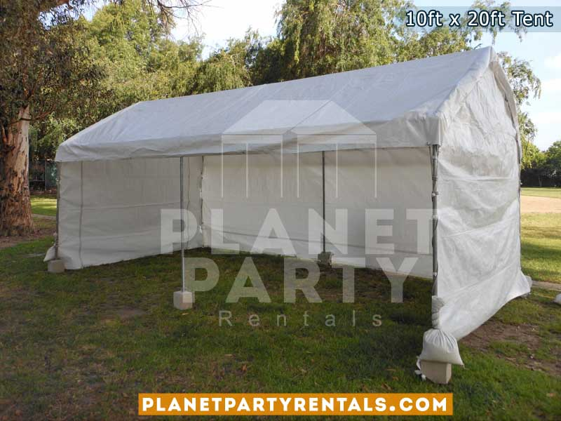 10ft x 20ft white party tent with sidewalls | San Fernando Valley tent rentals, van nuys, santa clarita, simi valley, burbank, panorama city