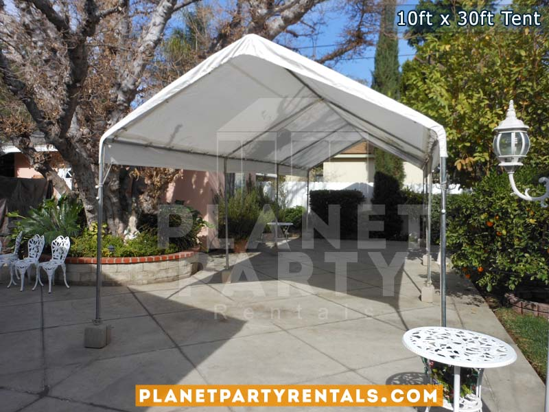 10ft x 30ft Party Tent | Shown with Roof Only