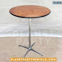Round cocktail table | Round cocktail table cloths with overlays or bows