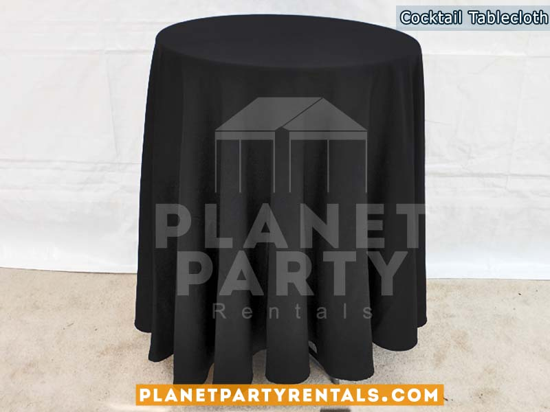 Round cocktail table cloth with overly or bow | San Fernando Valley Linen Rentals