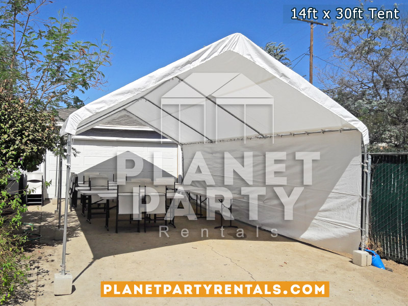 14ft x 30ft White Party Tent