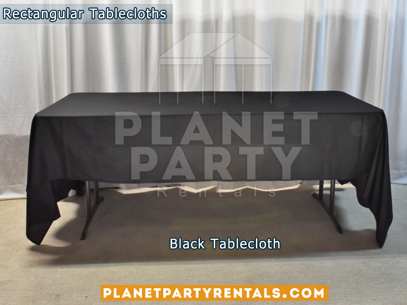 Rectangular Tablecloth Color: Black