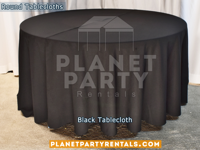 Round Tablecloth color Black.