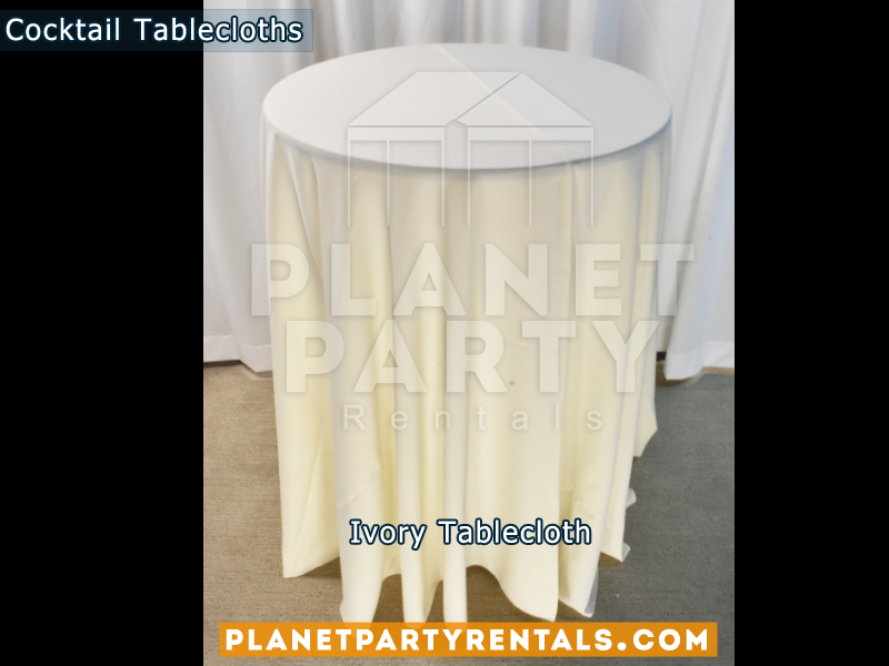 Tablecloth for Cocktail Table Color: Ivory