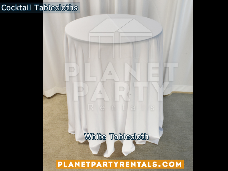 Tablecloth for Cocktail Table Color: White
