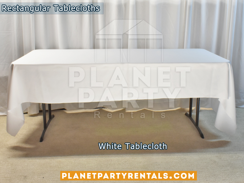 Rectangular Tablecloth Color: White
