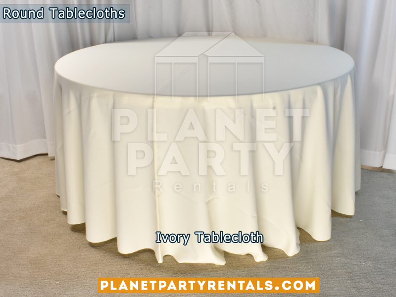 Round Tablecloth color Ivory