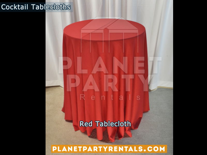Tablecloth for Cocktail Table Color: Red