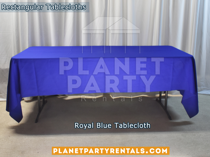 Rectangular Tablecloth Color: Royal Blue