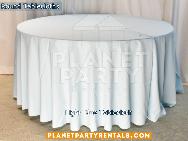 Round Tablecloth color Light Blue