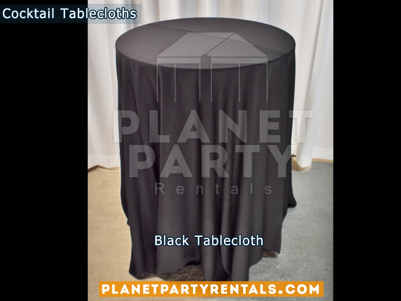 Tablecloth for Cocktail Table Color: Black