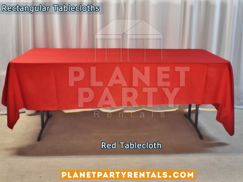 Rectangular Tablecloth Color: Red