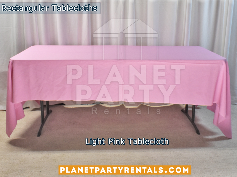 Rectangular Tablecloth Color: Light Pink