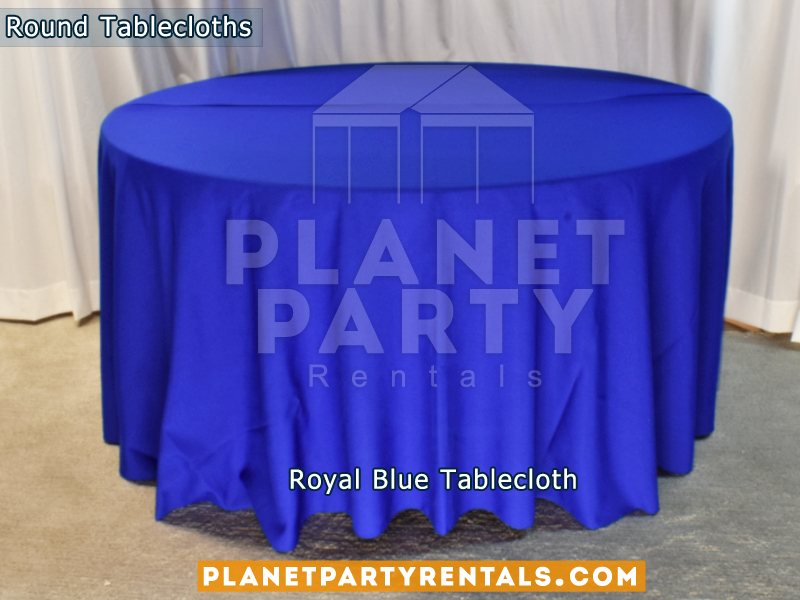 Round Tablecloth color Royal Blue