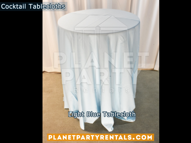 Tablecloth for Cocktail Table Color: Light Blue