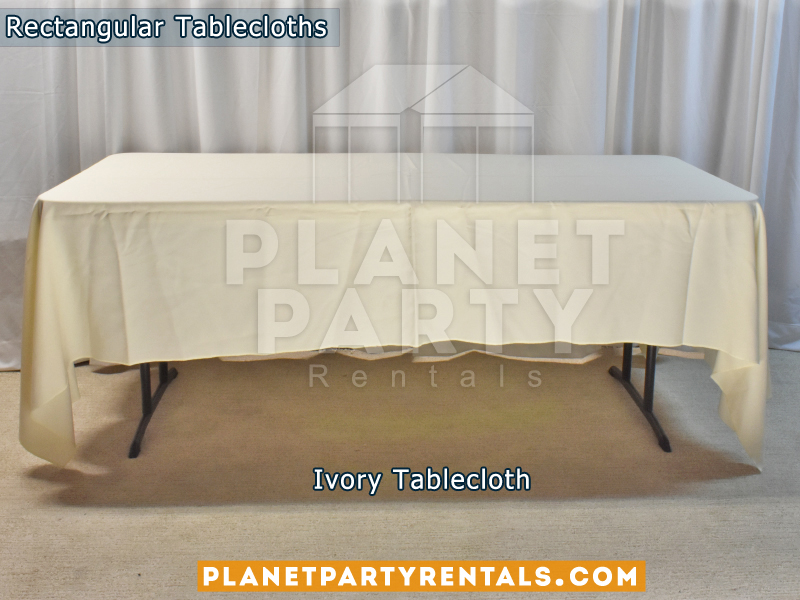 Rectangular Tablecloth Color: Ivory