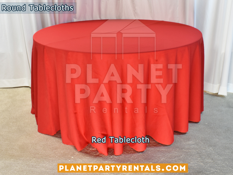 Round Tablecloth color Red