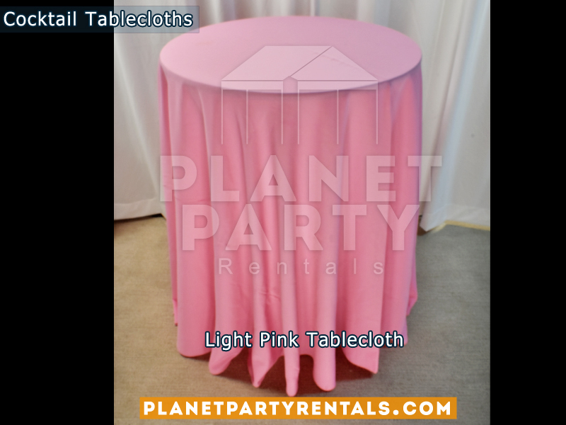 Tablecloth for Cocktail Table Color: Light Pink