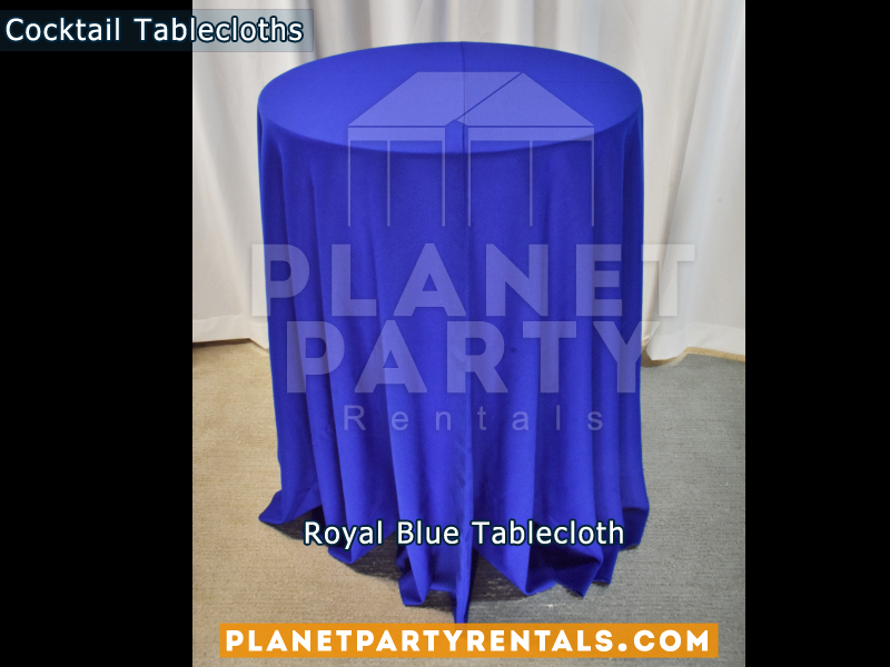 Tablecloth for Cocktail Table Color: Royal Blue