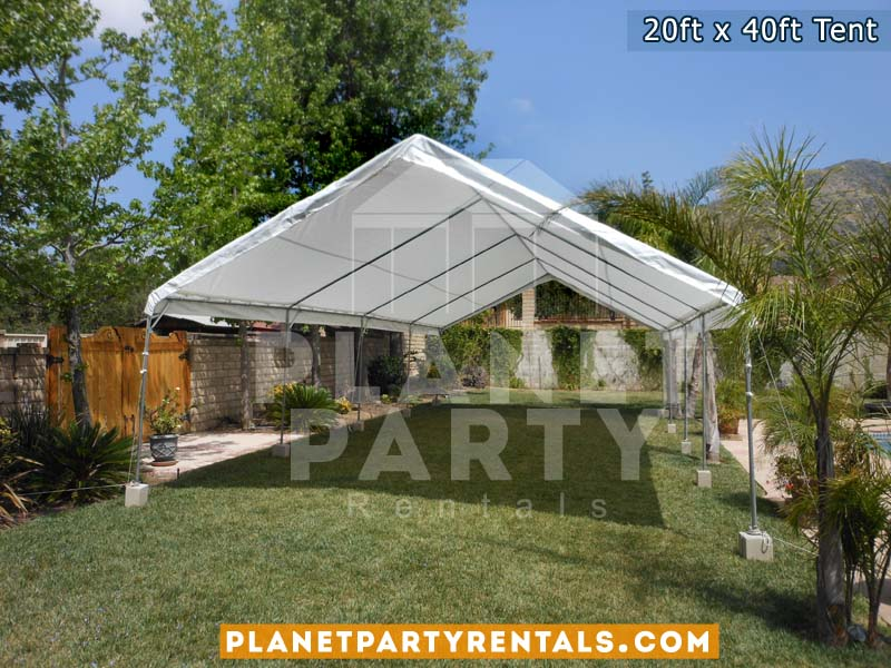 20x40 Tent with no sidepanels setup on grass